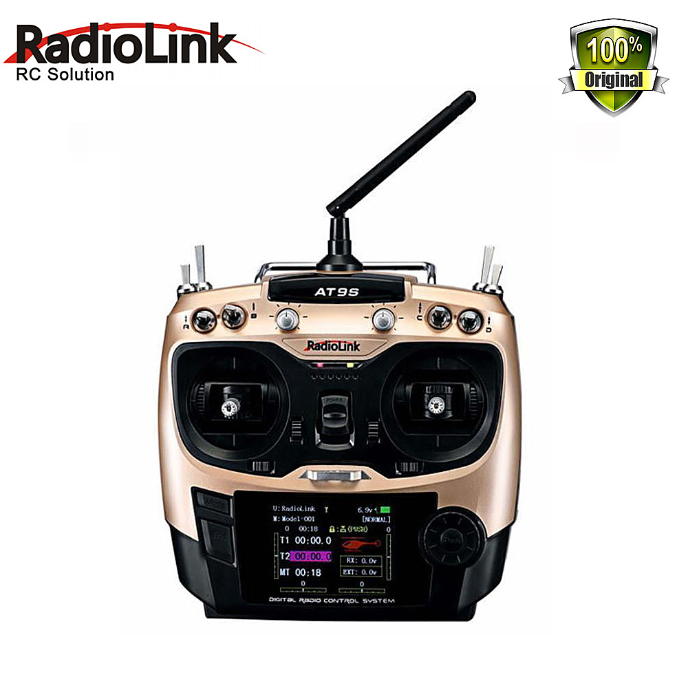 Radiolink AT9S 2.4G 9CH RC System Transmitter with R9DS Receiver AT9 Remote Control update vision for quadcopter Helicopter free shipping original maxidiag elite md802 all system ds model md 802 full system ds epb ols data stream update by internet