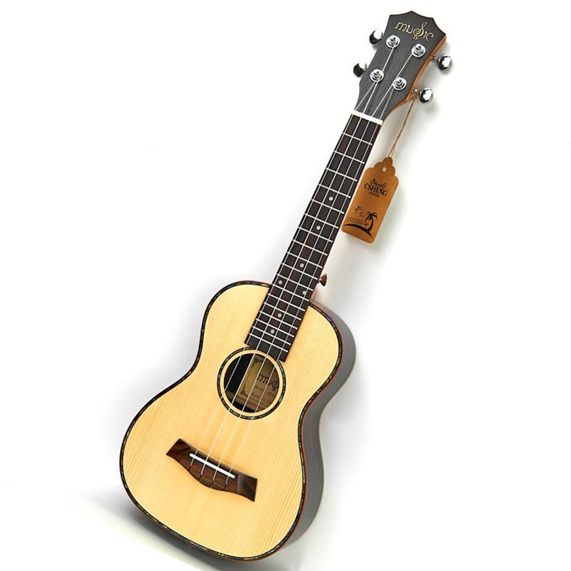 Haute qualité 23/26 pouces ukulélé guitare hawaïenne seulement top épicéa massif + palissandre guitare acoustique Uku palissandre guitare