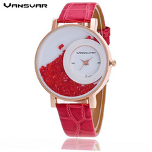 Vansvar Fashion Leather Strap Women Rhinestone Wrist Watch Casual Women Dress Watches Watched Hot Relogio Feminino BW656 MXRE