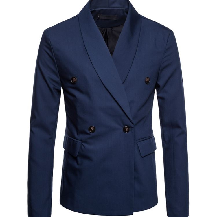 New Mens Casual Color Large Size Double-breasted Green Fruit Collar Blazer Fashion Business Fit Comfortable High Quality Clothes