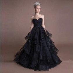 Новое поступление, бальное платье, фатиновые юбки для взрослых, модная шикарная юбка для выпускного вечера с оборками, черная длинная юбка д...