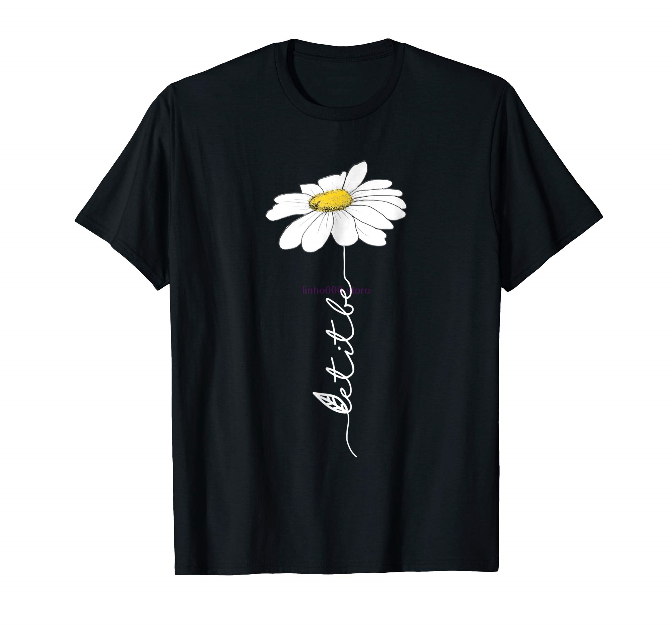 GILDAN brand men shirt Cool Let It Be Hippie Flower T-Shirt Gift For Women