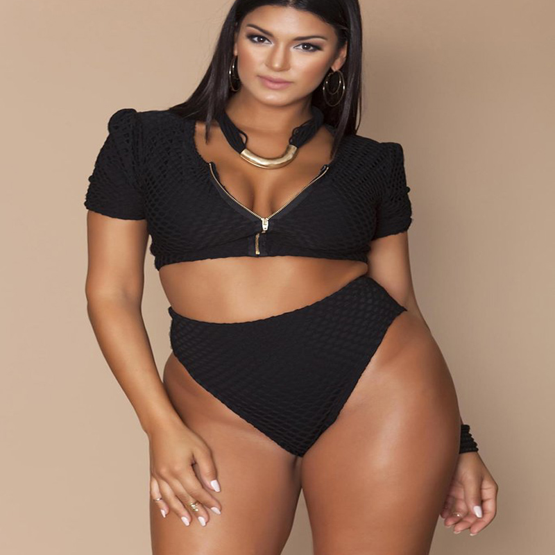 Swimsuit Bikini Plus Size Swimsuit Separate Large Size Women's Swimwear Swimming Suit For Women Push Up Bikini Set 2019 New