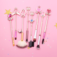 Free Shipping Sailor Moon Cosmetic Brush Makeup Brushes Set Make Up Brush Tools Kit Eye Liner