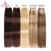Real Beleza Brasileira Cabelo Reto 613 Pacotes de 100% Cabelo Humano Tecelagem Feixes Remy Ombre Hair Extensions Platinum Blonde Cor