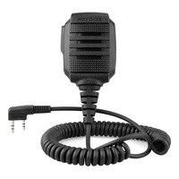 עבור kenwood Talkie Walkie מיקרופון כתף עמיד למים מיקרופון IP54 אוזניות עבור BAOFEGN UV-5R 888S UV82 UV8D Kenwood מחט כפול (1)
