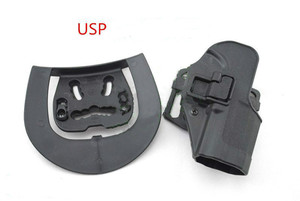 Image 2 - Tactical Airsoft CQC Holster Pistol Gun Holster For G17/1911/M9/P226/USP Belt Loop Waist Paddle outdoor Hunting