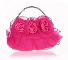 Pink Damen Satin Kupplung handtasche Braut Hochzeit Abendtasche Geldbeutel-verfassungs-beutel Freie Verschiffen 03850-H