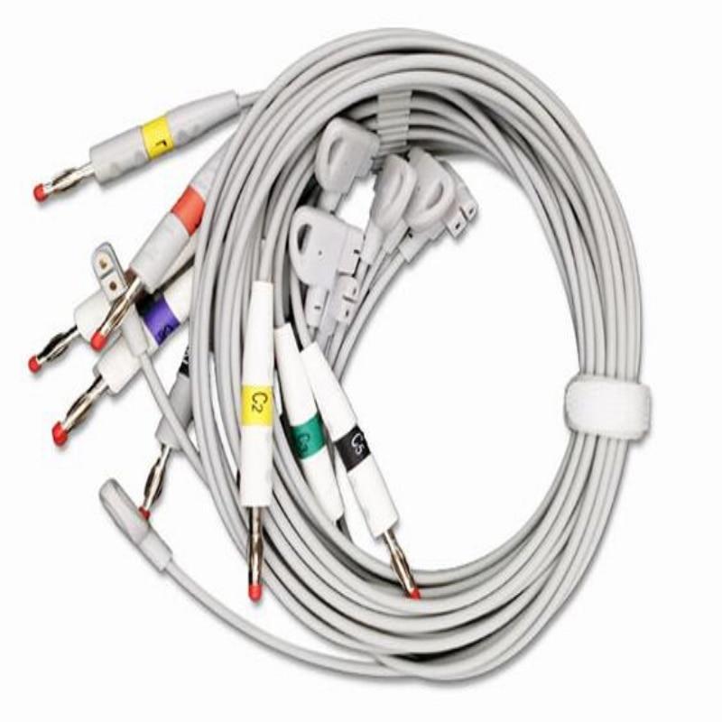 Compatible pour Philips M1700A/M1701A/M1702A/garniture 1/TRIM2/TRIM3 fil de plomb ECG, fils de plomb ECG norme IEC