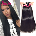 Ruiyu Hair Products Brazilian Virgin Hair Straight 4 Bundles Brazilian Straight Hair Weave Brazilian Human Hair Weave Bundles