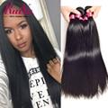 Ruiyu produtos para o cabelo brasileiro virgem cabelo liso 4 bundles brasileiro cabelo liso weave brasileiro do cabelo humano weave bundles