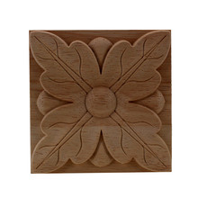 VZLX Woodcarving Decal Pretty Patterns Wood Appliques Carved Miniatures Wooden Figurine Crafts Furniture Window Home Decor(China)