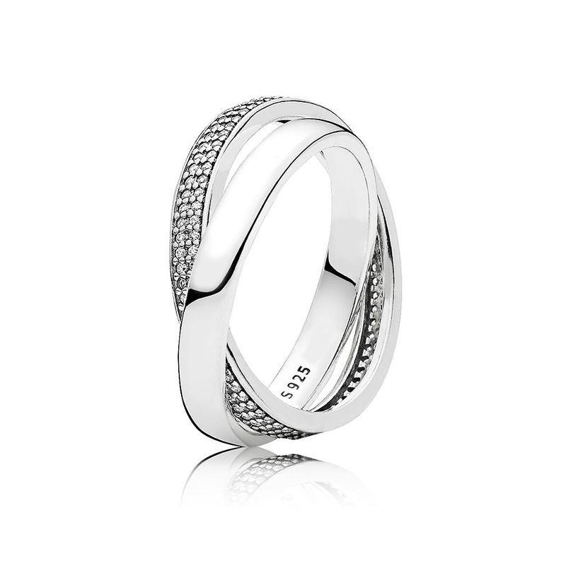9e80048cd Detail Feedback Questions about Authentic 925 Sterling Silver Ring PAN  Signature Promise With Crystal Rings For Women Wedding Party Gift Fine  Pandora ...