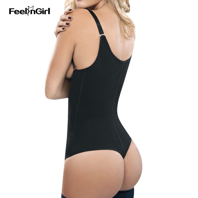 9942afafac FeelinGirl Women Zipper Body Shaper Waist Trainer Vest Shapers Waist  Trimmer Belt Slimming Tummy Control Bodysuit Corset D-in Bodysuits from  Underwear ...