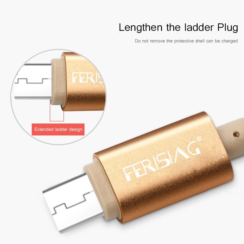 FERISING Logam Plug Kabel nilon 2A USB Kabel Data Untuk petir, - Aksesori dan suku cadang ponsel - Foto 3