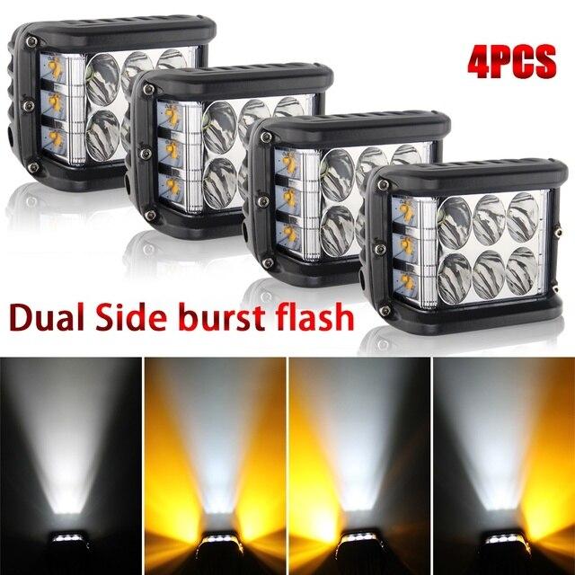 CO LIGHT 4 дюймов 72 Вт светодио дный светодиодный рабочий свет стробоскоп свет бар мигающий Авто Вождение противотуманная фара для грузовика вн...