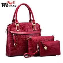 2016 Women Leather Handbag Women Messenger Bags Sac A Main Ladies Brand Designs Shoulder Bag Crocodile