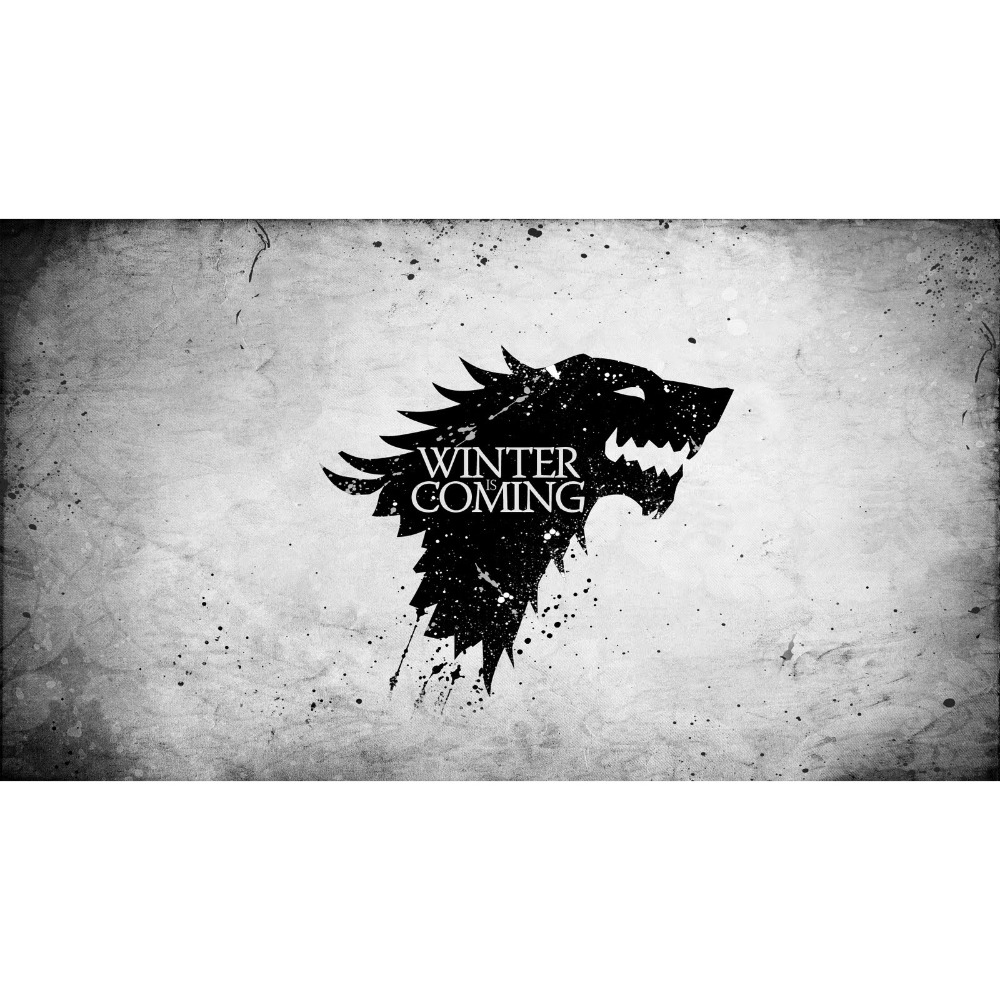 Game of Thrones (A song of Fire and Ice ) Wolf symbol of House Stark Board Game Cards tab pad