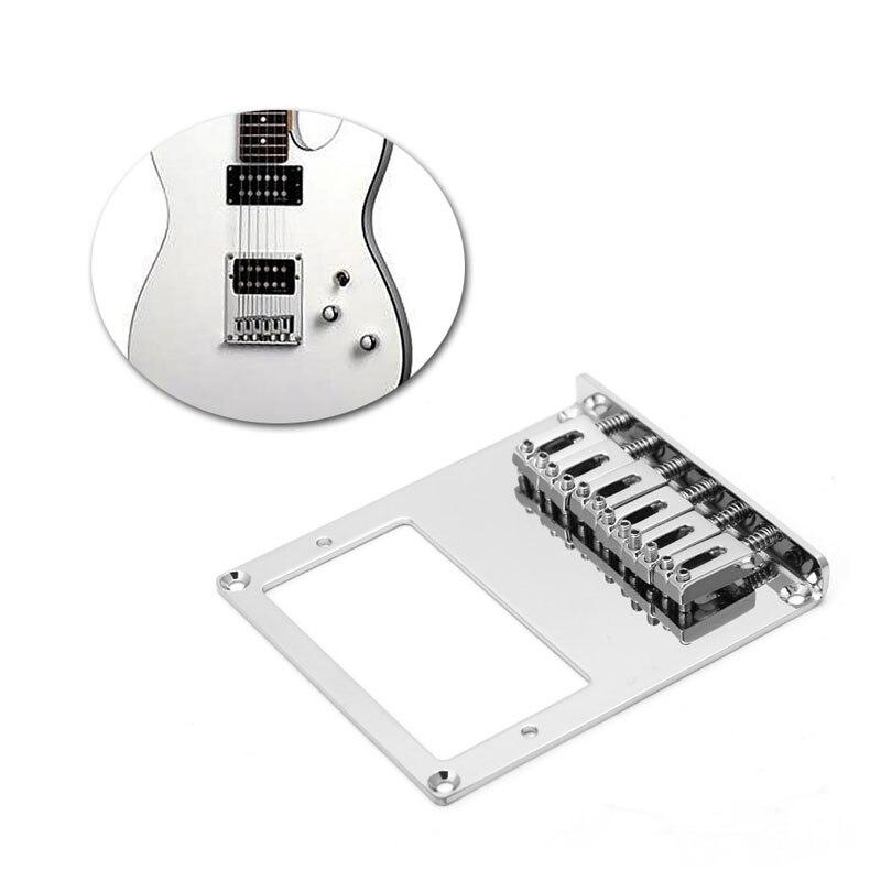 tele electric guitar bridge 6 string square saddle for. Black Bedroom Furniture Sets. Home Design Ideas