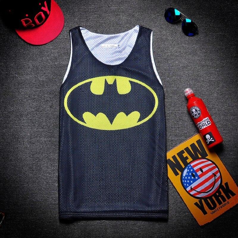 Prix pour Hommes Basket-ball Jersey Super-Héros Superman Batman Imprimé Débardeur Maillot Chemise Pour Hommes Fitness Course Jogging Porter