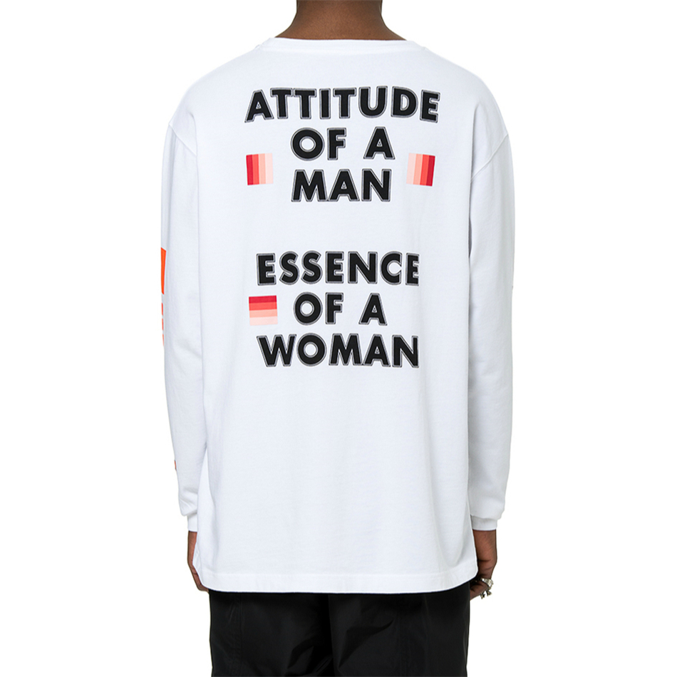 fe5ea1e0cc689 Best Version White Heron Preston Bird T shirt Graphics Print Long Sleeve  Tops Streetwear Embroidered Text Patch At Sleeves-in T-Shirts from Men s  Clothing ...