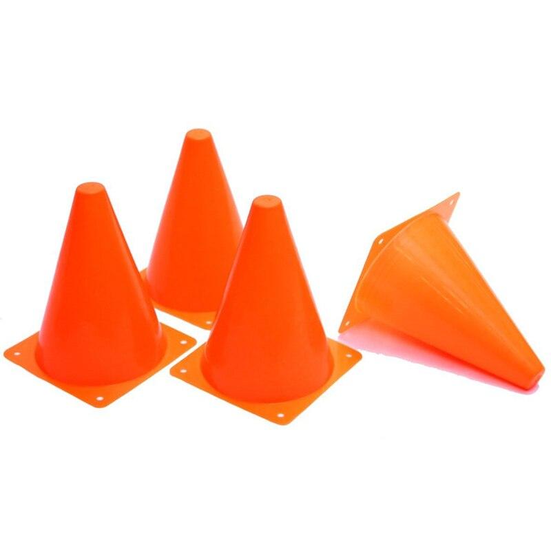 12 Pcs 18 centímetros Dazzling Laranja Marcador Cones de Tráfego Brinquedos Curso Futebol Equitação Exercício Suprimentos BB55