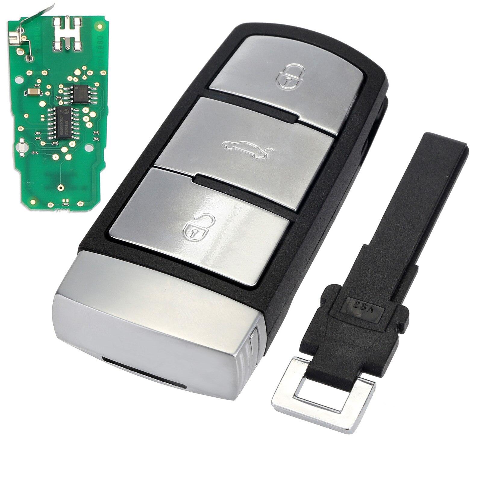 3 Buttons Entry Fob 3C0 959 752 BA Remote Car <font><b>Key</b></font> Shell Case Replacement 433Mhz for VW Passat CC Car <font><b>Key</b></font> D25