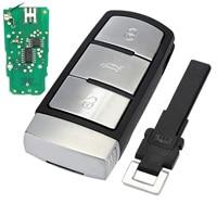 3 Buttons Entry Fob 3C0 959 752 BA Remote Car Key Shell Case Replacement 433Mhz for VW Passat CC Car Key D25