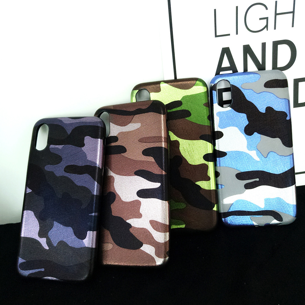 Battlegear Army Camo Camouflage Phone Iphone X 8 7 Plus Soft TPU Back Cover For Iphone 6 6S Plus Shell