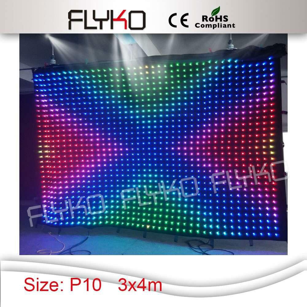 4 светодио дный x 3 м лучшая цена rgb гибкий светодиодный видеозанавес с контроллером и коробкой питания