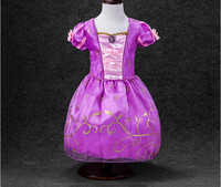 Free Shipping Retail Cinderella Dress For Summer Baby Girls Party Kids Cosplay Clothes Princess Dresses Costume