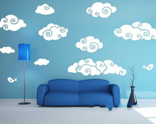 online shop white clouds wall sticker cartoon clouds baby nursery