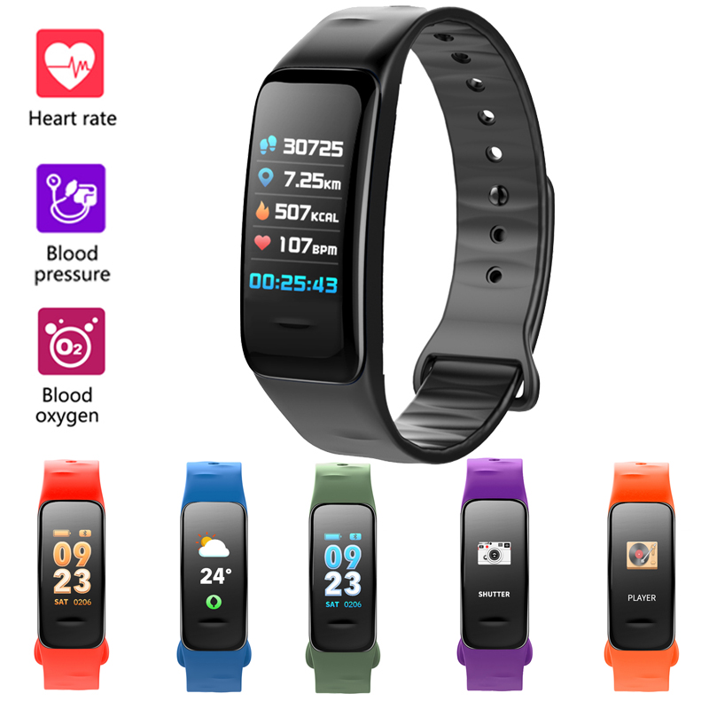 все цены на RUIJIE C1S Smart Bracelet Color Screen Heart Rate Blood Pressure Oxygen Monitor Activity Tracker Fitness Tracker Band