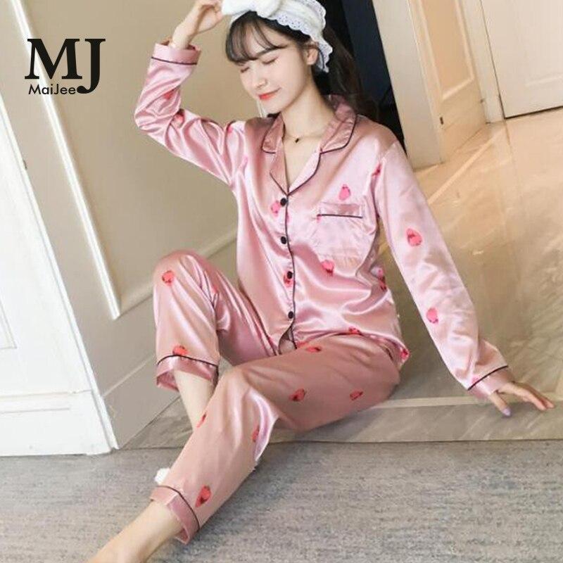 MJ053A 5XL Big Size  Silk Pijama Feminino Pyjamas Women Pijamas Mujer Plus Size Pajamas Kigurumi Satin Pajamas Pyjama Femme Пижама