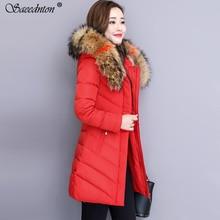 купить 2019 New Fashion Women Winter Jacket With Fur Collar Warm Hooded Female Womens Down Cotton Coat Long Parka Outwear Camperas XXXL по цене 2125.88 рублей