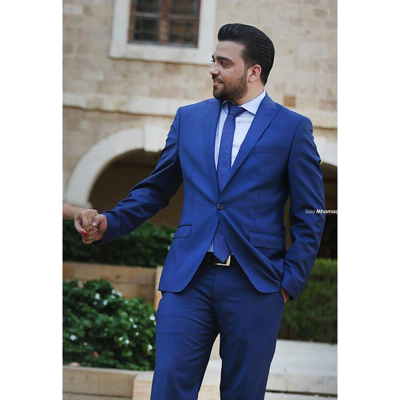 789445bd20ad Pezzi Smoking light Royal Uomo Grey avorio jacket grigio Nero Slim Terno Custom  Made il Fit Sposo Blue charcoal Beige Abiti Da ...