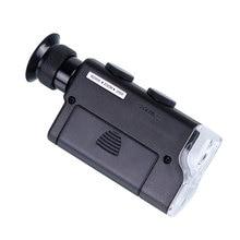 Хит! Мини Портативный микроскоп Карманный 200X~ 240X ручной светодиодный светильник Лупа увеличительное стекло карманная линза