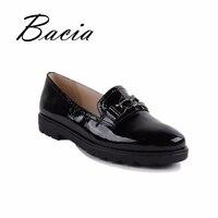 Bacia/Лоферы ручной работы, кожаная женская обувь, Всесезонная мягкая легкая повседневная женская обувь на плоской подошве с металлическим ук