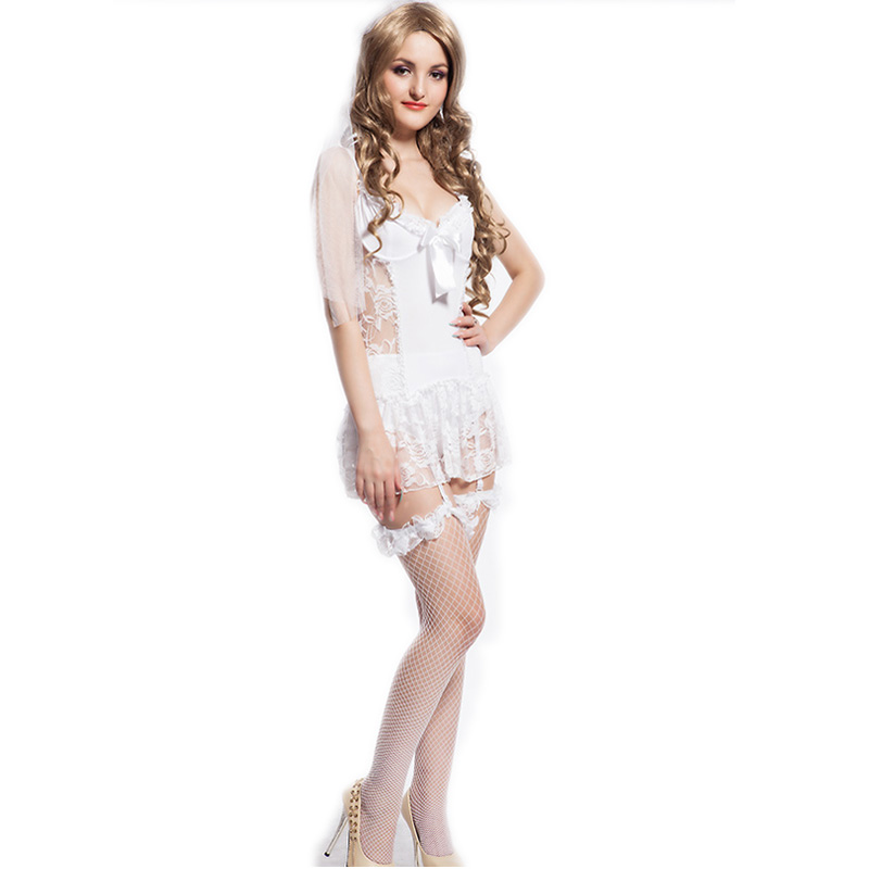CL88058 Ohyeah best selling white Bride babydol quality assurance plus size lenceria font b sex b