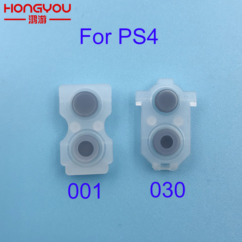 100pcs For PS4 JDS030 JDS 001 010 011 L2 R2 L1 R1 Rubber Conductive Pads For PS4 Controller Silicon Rubber Buttons