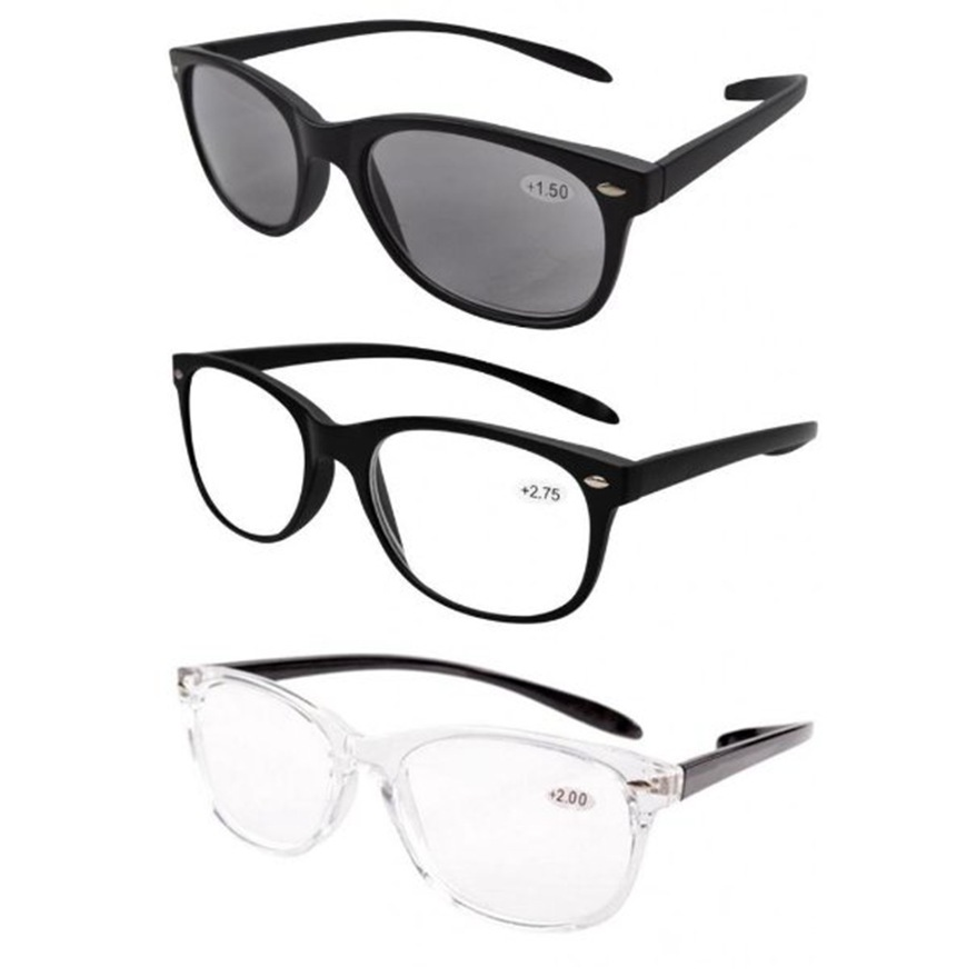 FR007 Mix Eyekepper 3-pack Retro Chic Vintage Inspired 80's <font><b>Reading</b></font> <font><b>Glasses</b></font> <font><b>Men</b></font> +2.0/+<font><b>2.25</b></font>/+2.5/2.75/3.0 image