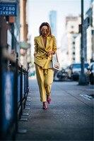 Tailored Tuxedo Women Business Work Suits Ladies Trouser Suit Female Office Uniforms