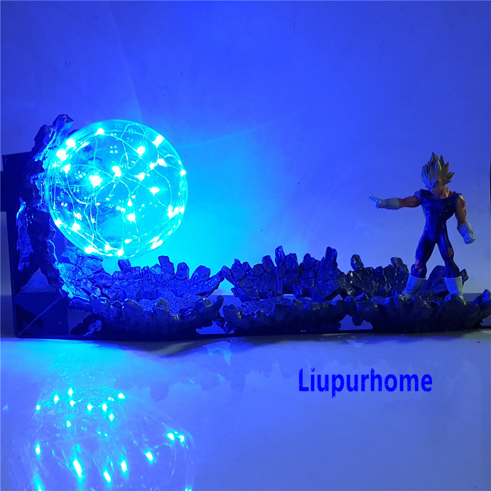 Lampara Dragon Ball Z Vegeta Super Saiyan LED Light  Action Figures Evil Vegeta Power Up Decorative Lamp LED Bulb for Gifts MY1