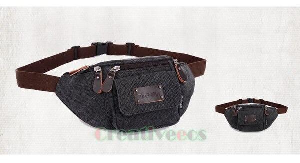 Unisex saco do Mensageiro Da Motocicleta Bolsa de Viagem Da Lona Ombro Hip Bum Belt Bloco de Fanny Cintura Sling Peito Bag