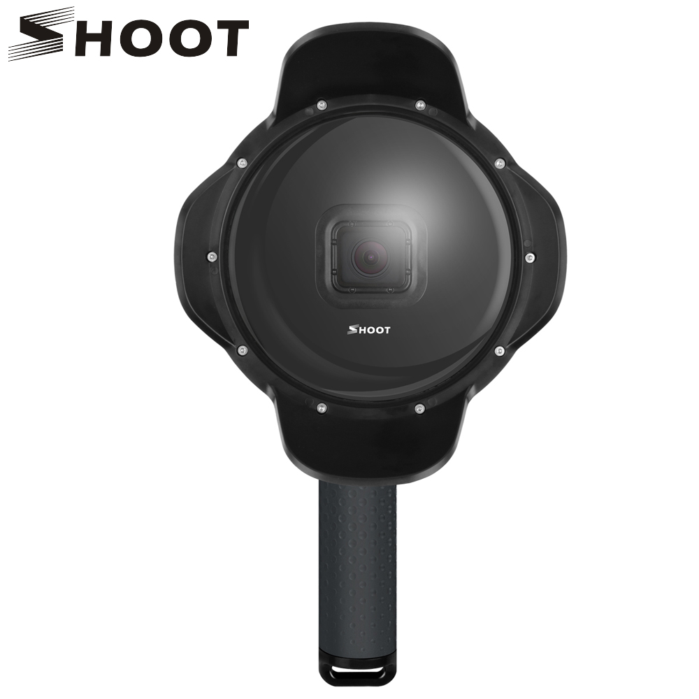 SHOOT Underwater Dome Port for GoPro Hero 6 5 7 Black Action Camera with Waterproof Case