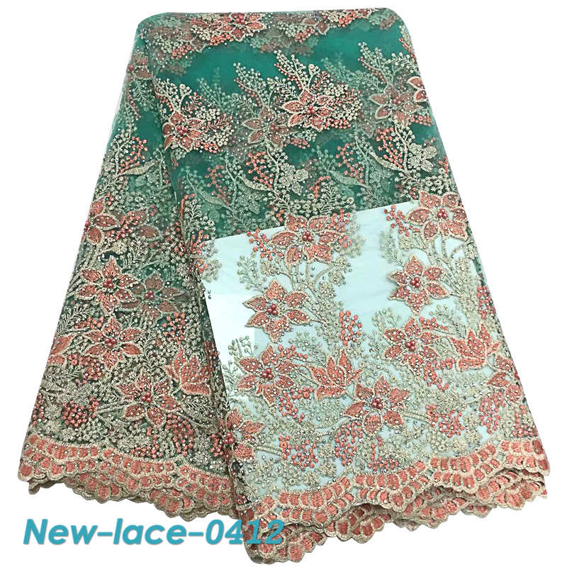 Sweet-Tempered Latest Style 2019 African Lace Fabric With Stones Nigerian Wedding Embroidered French Tulle Lace Material For Bridal Dress Mg002 Promote The Production Of Body Fluid And Saliva Arts,crafts & Sewing