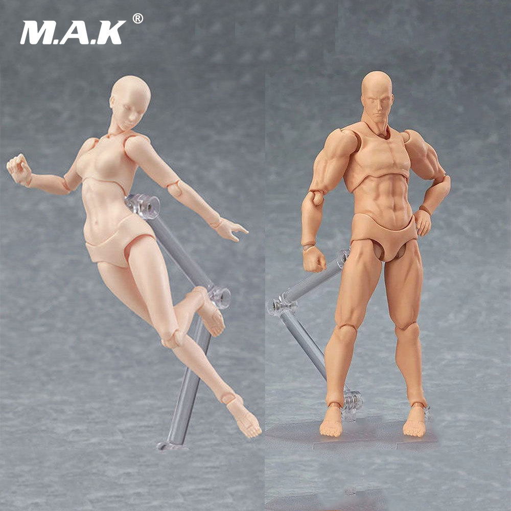 CHAN / Kun He She PVC Movebale Action Figure Skin Color Nude Male Female Figures Bodies Collections Gifts 17cm 2.0 Youth Edition