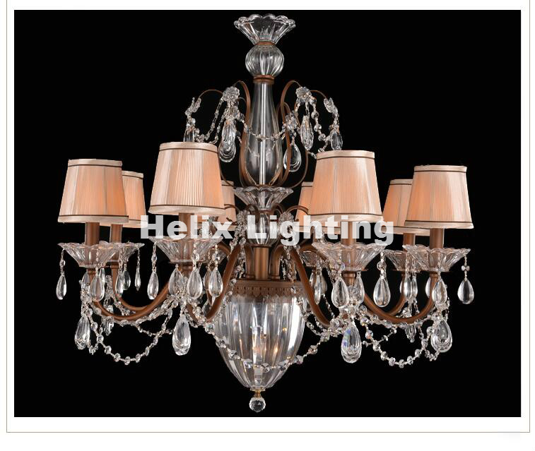Free Shipping Crystal Chandelier Lingting Luxurious Metal Brass Color Crystal Lamp Lustre Suspension E14 LED Light Résultat Supérieur 15 Frais Lustre Suspension Metal Photos 2017 Phe2