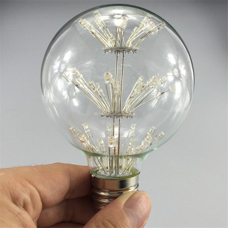 10 шт. G80 Dragon Ball светодиодный светильник в стиле ретро со звездами 3 Вт E27 AC85 265V энергосберегающий Теплый Белый античный светодиодный светильник из стекла для ресторана - 2