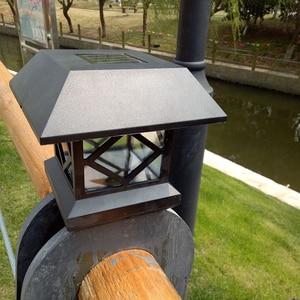 Image 5 - LED Column Headlight Outdoor Waterproof Solar Energy Lantern Light Community Villa Light Outdoor Patio Door Pillar Light Walled
